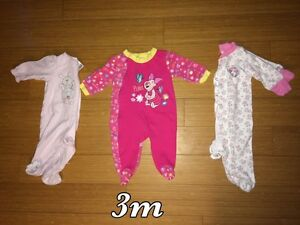 Infant Baby Girl Pyjamas up to 6 months