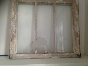 3 Pane Vintage Chippy Window