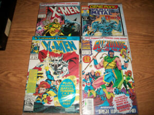 4 unopened comics with trading cards $15