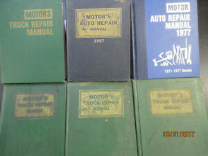 1949 to 1977 Repair Manuals  Auto, Truck, Heavy Truck & Tractor