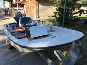 12' Boston Whaler 1-year old Engine & Steering Unit. Ready to Go