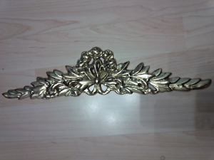Brass made Accent Plate Applique for Wall or Furniture