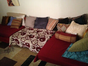 Large, l-shape couch (comfortably sits 5-6)