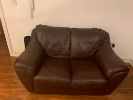 FREE Brown leather sofa 2 seater