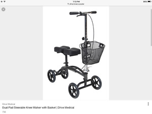 Knee Walker/Scooter with Basket - Great for Leg/Foot Injuries