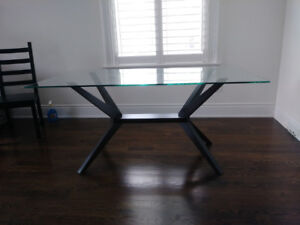Glass Top Dining Table + Free Delivery