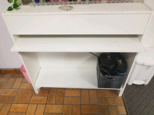 Desk. 41 inches by 40 inches - dryer underneath - used