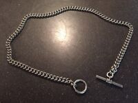 Solid silver curb chain