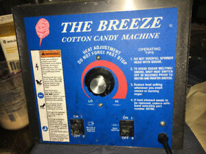 The breeze Cotton Candy Machine with lid For Sale