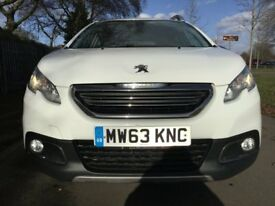 Peugeot 2008 Allure 1.6 e-HDi 92 Stop & Start Good / Bad Credit Car Finance (white) 2014