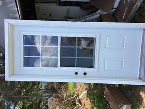2exterior windoors and 1 door