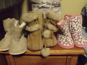 boots size 3  hello kitty size 4-5  fur boots 7