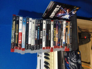 Used PS3 + 23 Games and Two DualShock Controllers. Cables Incl.