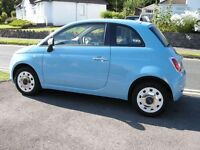 2013 Blue Fiat 500 Colour Therapy