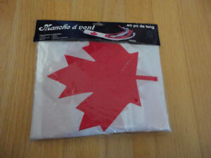 Canada flag lawn sock hanging decoration New with tags