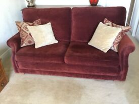 Pair of matching settees.