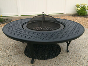 Wood Burning 54 inch Round Cast Firepit