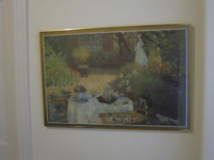Monet Poster and Frame