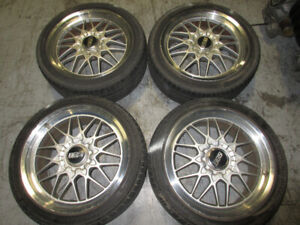 245-40-18 BBS STAGGERED MAG WHEEL 5X114.3 OFFSET +42/+40