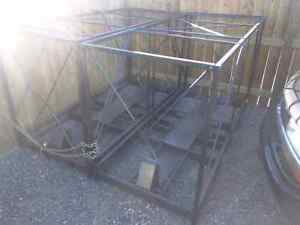 Motorcycle steel shipping crate's