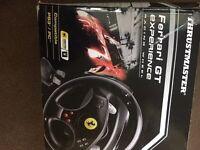 Gaming wheel Ferrari in box. Of ps3