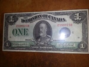 1923 One Dollar Note