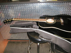 ibanez black v-70 dreadnought accustic like new