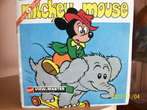 View Master de GAF, 3 roulettes Mickey Mouse, 1958,vintage