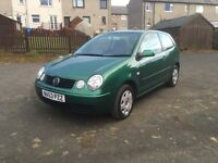 VOLKSWAGEN POLO 1.2,•LOW MILES!•LOVELY CAR!•£1100•(golf fiesta focus vw ford Clio punto Ka Astra)