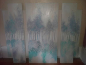 """Beautiful """"Tri-Panel"""" Painting for sale."""
