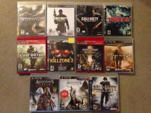 11pc PS3  GAMES ---REDUCED---