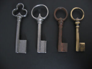 Key blanks, hollow barrel, different finishes