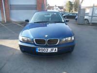 2002 02 BMW 320i SE 2.2i 6 CYLINDER 24V 170 BHP SALOON 1 OWNER FULL LEATHER