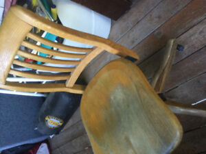 Old wooden office chair