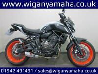 YAMAHA MT-07 ABS, 19 REG 2128 MILES, BLACK WIDOW EXHAUST, COMFORT SEATS...