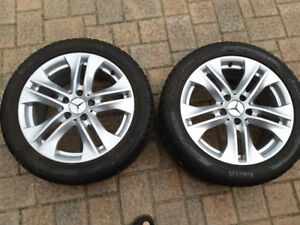 Authentic 17 inch Mercedes rims + Pirelli Sottozero Snow tires