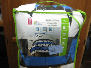 7 piece bed in a bag comforter double size set