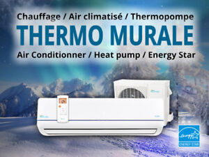 (Promotion)Chauffage-30C/Thermopompe/Air Conditionné