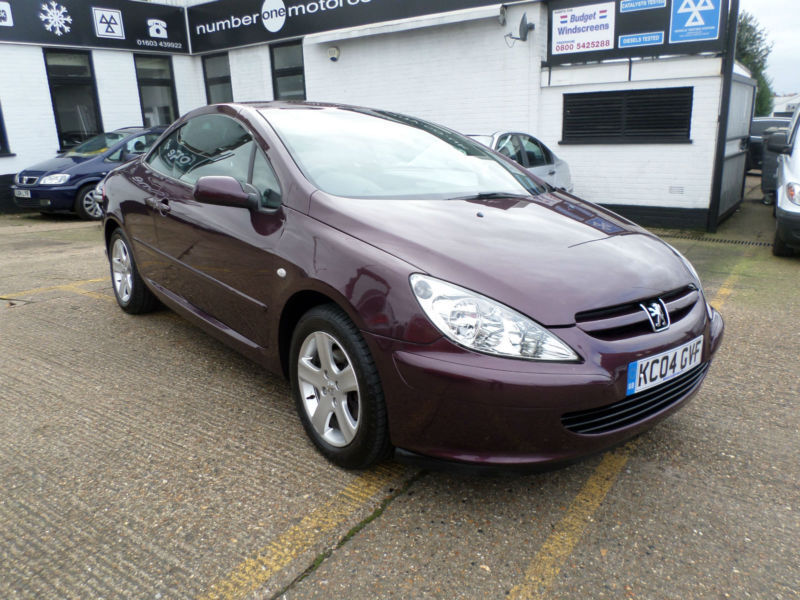 peugeot 307 cc 2.0 16v coupe 2003 | in norwich, norfolk | gumtree