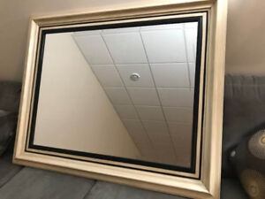 two 40x50 deco mirrors