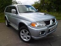 MITSUBISHI SHOGUN SPORT 2.5TD WARRIOR FSH CAMBELT DONE AT 55,000 MILES, Silver,