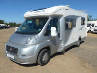 Chausson Welcome 72 3 Berth Low Profile ISLAND BED Fixed bed Garage 4 belts