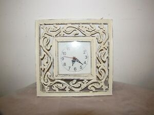 IVORY FRAMED WALL CLOCK