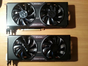 Two EVGA GTX 760 SC ACX 2.0 cards in mint condition