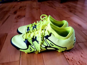 Adidas Mens' Size 6.5 Electric Green Soccer Cleats