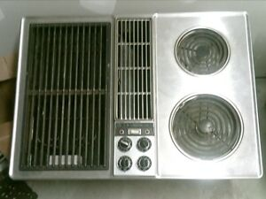 Jenn Air Grill With Twin Burner Downdraft Stovetop
