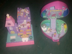 Vintage polly pocket with dolls