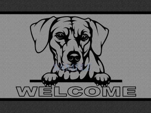Rhodesian Ridgeback Dog Peeking Over Welcome Home Doormat Door Mat Floor Rug