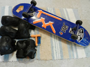 SKATEBOARD PLUS PADS $ 90 O.B.O.,... RARELY USED