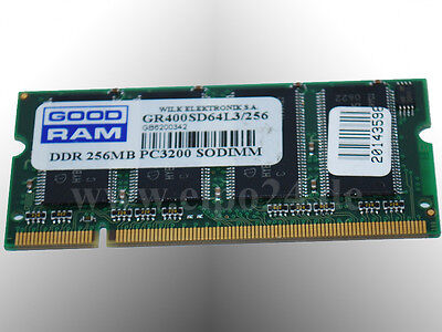 Good RAM DDR Notebook Laptop Notebook Arbeitsspeicher 256MB PC3200 SODIMM 400MHz - 400 Sodimm Notebook-speicher
